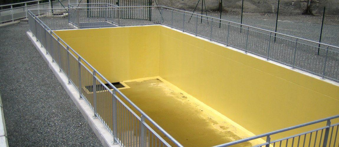 réalisation du cuvelage bassin déporté