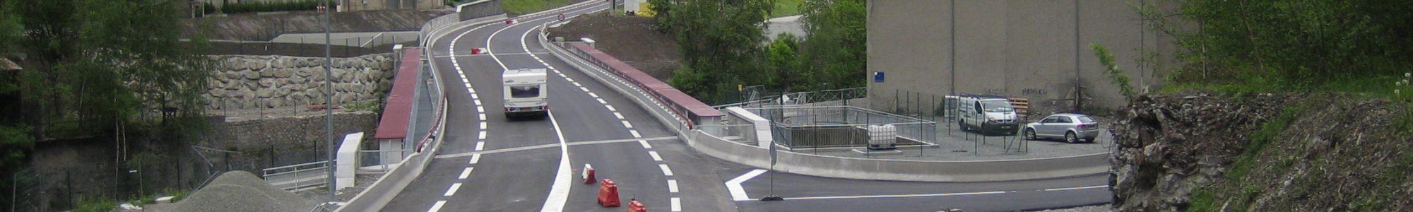 Revêtement anti-corrosion de bassin déporté sur la route RD 1091 - Isère