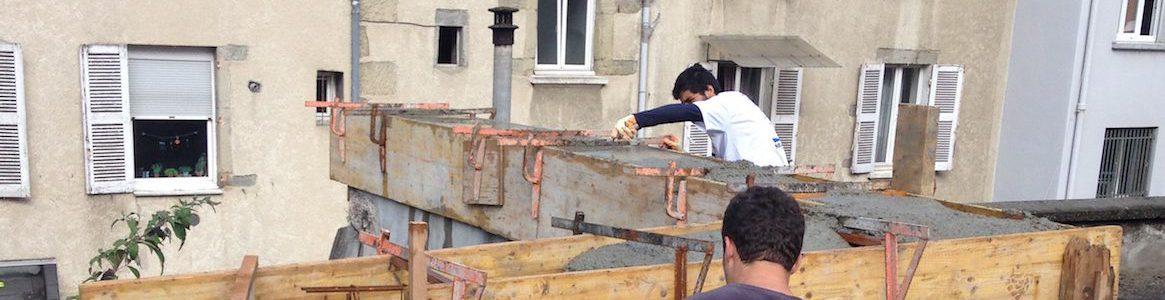 Reconstitution de mur ancien coffrage et coulage - Grenoble - Isère