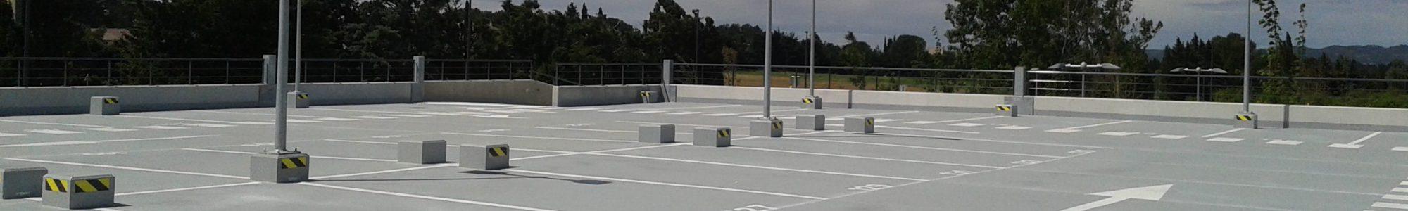 étanchéité liquide sur parking - Bollène - Vaucluse