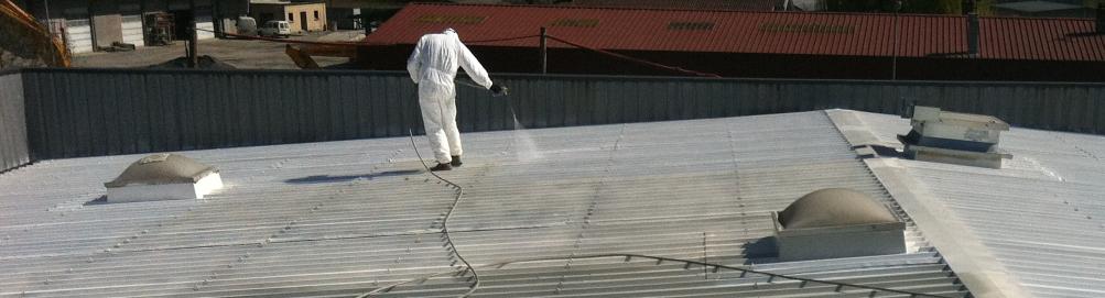 Rénovation de toiture de gymnase par projection de résine - Le Versoud - Isère