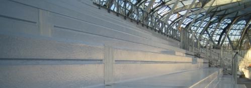étanchéité liquide sur gradin stade des alpes - Grenoble - Isère